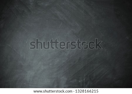 Black chalk background with no people for your advertisement, promotion. Horizontal image. Mock up space. Dark tone. Vintage