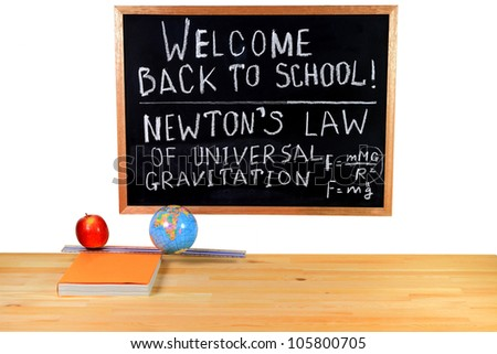 Written congratulation for back to school thematic of the physics