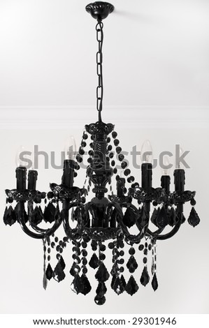 Shopzilla - Hampton Bay 5 Light Brushed Nickel Chandelier Black