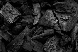 Black charcoal texture background.selective focus