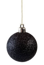 Black christmas ball isolated