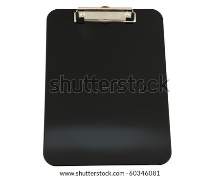 Black Clipboard Isolated On White Background. Clipping Path Included