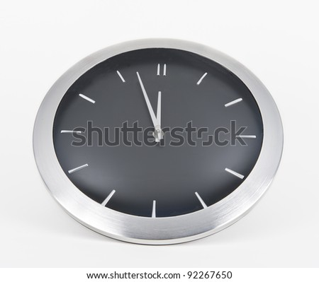 Black clock face