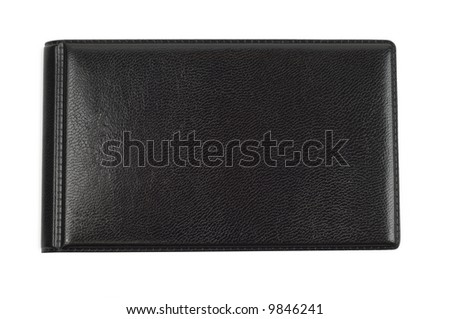 Black closed case isolated with clipping path over white background
