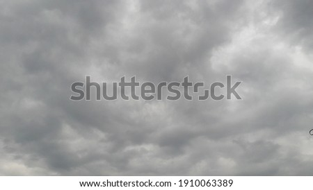 Black clouds hanging in the sky are a sign of overcastity Сток-фото ©