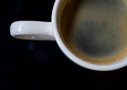 black coffee close up