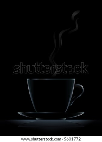 "Black coffee cup (light-colored version ""White coffee cup"" is in my gallery)"
