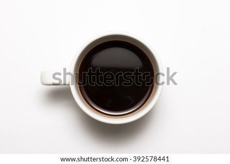Black coffee cup on the white background #392578441