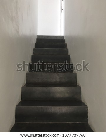 Black color up stair #1377989960