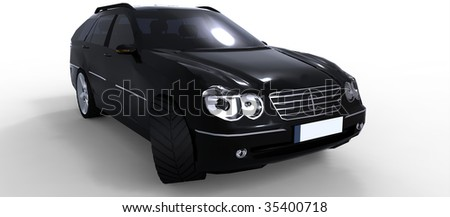 Black compact executive business car