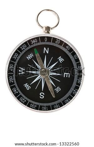 Black compass close up shot
