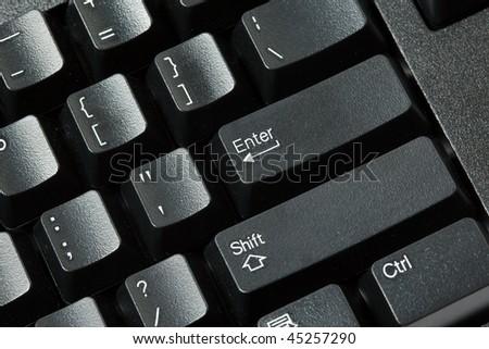 Black computer keyboard isolated on white background
