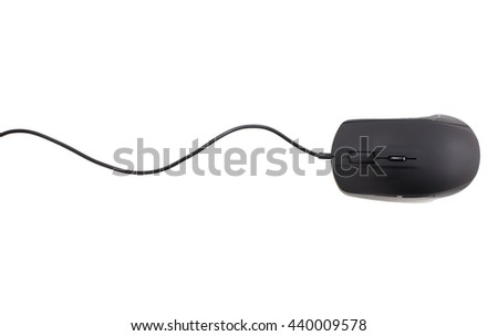 black computer mouse isolated on white background #440009578