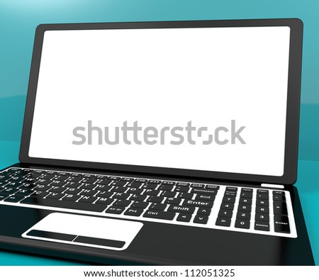Black Computer On Desk With White Copy Space