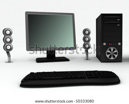 black and white backgrounds for computer. stock photo : Black computer