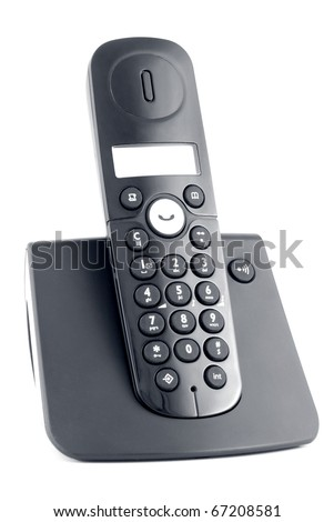 Black cordless isolated on a white background