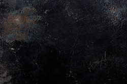 Black, corroded and rusty metal texture background