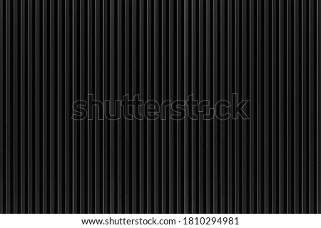 Black Corrugated metal background and texture surface or galvanize steel , Black metal sheet wall or fence seamless background Сток-фото ©