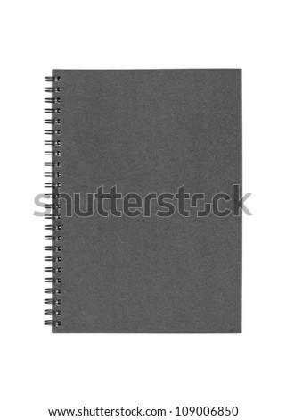 black cover note book