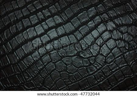 black crocodile leather  texture - stock photo
