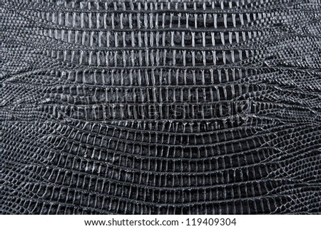 Black crocodile leather texture pattern closeup detailed background