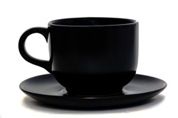 black cup isolated on white background