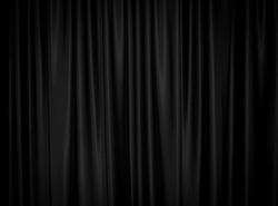 Black curtain background decoration wallpaper.