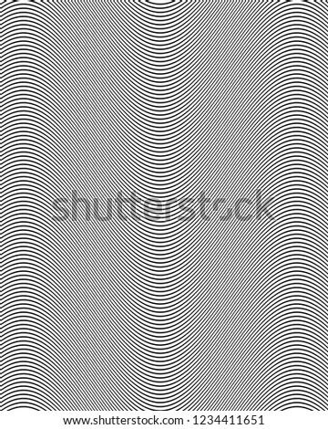 black curved amplitude lines