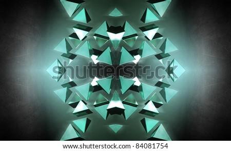 Black 3D pyramids