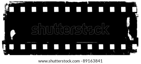 Black damaged Filmstrip