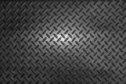 Black dark grey Checker Plate abstract floor metal stanless background stainless pattern surface.