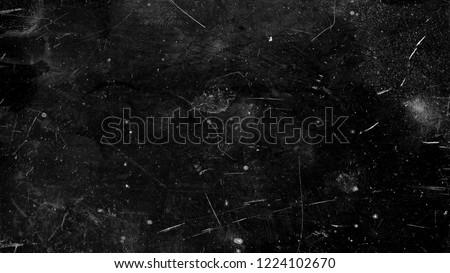 Black Dark grunge scratched background, distressed old texture