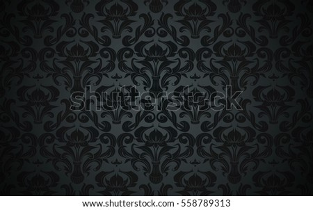 black dark vintage pattern