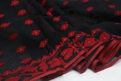 Black Dhakai Jamdani saree. jamdani is the on of the cultural saree in world