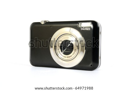 Black digital camera #64971988