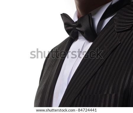 black dinner jacket closeup