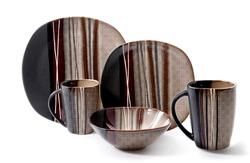 Black dinner set, Cookware set on white background, Black dishware set, Black teacup set