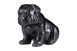 Black dog wood craft isolated on white background