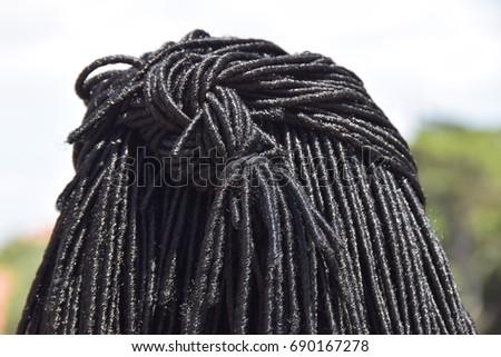 Shutterstock Black dreadlock hair