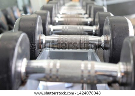 Black dumbbell set, dumbbell gym