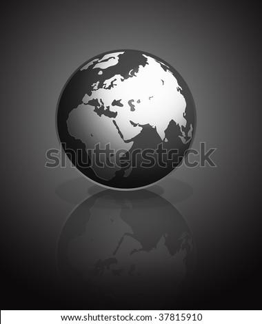 black Earth on dark background