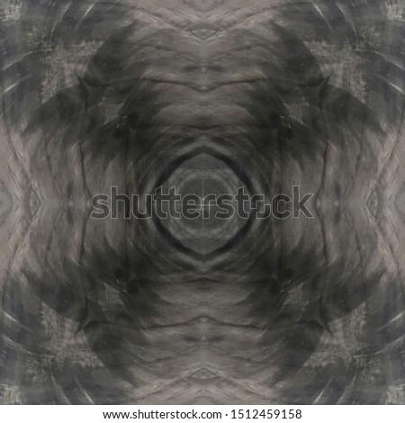 black ebony crotch wood veneer panel, abstract symmetric centered grain pattern