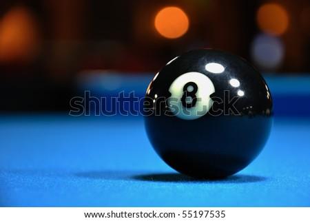 Black Eight Ball - stock photo