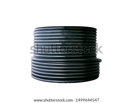 Black electrical cable isolated on white background isolated on white background  #1499644547