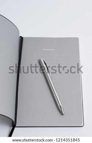 Black elegant business notes with page marker on white background #1214351845