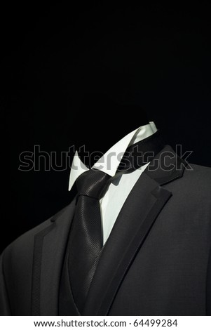 Black elegant stylish jacket, fashion and business background