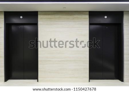 Black elevator doors #1150427678