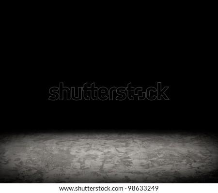 black empty interior. copy space