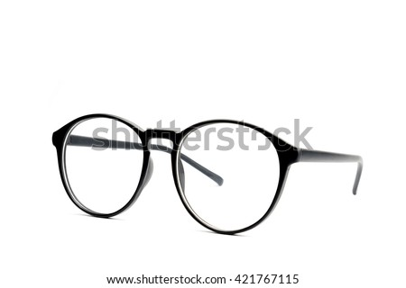 Black eye glasses Isolated on white background. #421767115