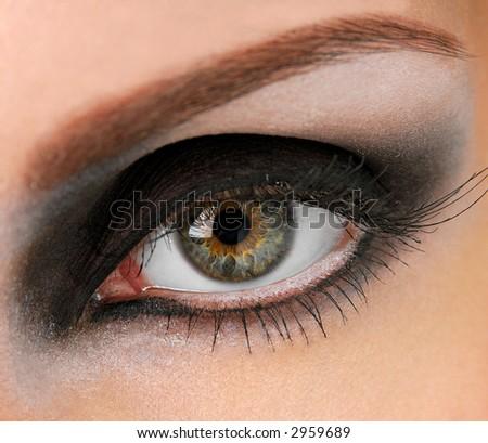 Black eye, long eyelashes and beautiful eye